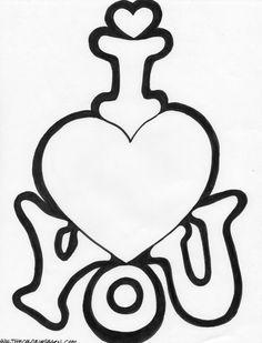 Corazón, tarjeta I love you