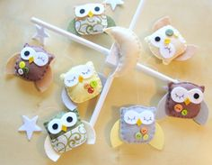 crib mobile /w owls (how early would be too early to make one for your future kids, @Bethany Shoda Hoyt Howard?)