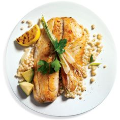 Grill Fish With Flavor Grilled Tilapia With Couscous and Avocado ❤ liked on Polyvore featuring food and food and drink