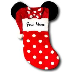 Personalized Christmas Stockings - Let's Personalize That Disney Stockings, Disney Christmas Stockings, Disneyland Christmas, Minnie Mouse Christmas, Cute Stockings, Mickey Mouse And Friends, Ugly Christmas Sweater, Christmas Gifts, Christmas Decorations
