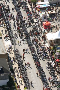 Birds eye view of Friday the 13th Port Dover, Ontario