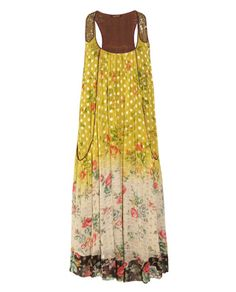 Vineet Bahl • Floral-print georgette maxi dress