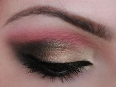 pink,light gold, brown and black---using BH cosmetics 120 palette 2nd edition
