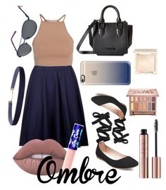 """""""#navynudeombrelook"""" by opeolamitoye on Polyvore featuring NLY Trend, Steve Madden, Kendall + Kylie, Lime Crime, Lilly Pulitzer, Humble Chic, Casetify, Urban Decay and Jouer"""