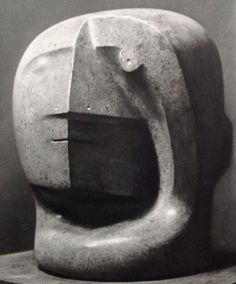 Henry Moore, Head This is a very abstract but straightforward( in terms of the piece's name) work. The head has a unusual human face proportion. I like how he created its facial features in such way that makes it seems 'human' and alien at the same time. Portrait Sculpture, Sculpture Head, Stone Sculpture, Abstract Sculpture, Metal Sculptures, Sculpture Rodin, Henry Moore Sculptures, Harlem Renaissance, Art Walk