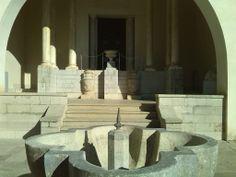 Jardines del carmen-estudio. Patio Principal, fachada sur, detalle del arco del porche. Foto: Rocío Bustos (2013)