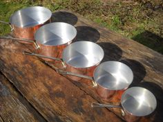 Everyday Vintage French Copper Clad Set of Five by NormandyKitchen
