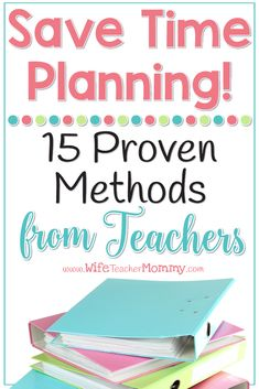 Save time planning as a teacher! These time hacks will help you be more productive in less time. The best part is these tips come from a wide variety of teachers just like you! Teacher Blogs, New Teachers, Teacher Hacks, Teacher Resources, Teacher Stuff, Teacher Survival, Teacher Planner, Teacher Binder, The Plan