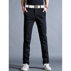 21.24$  Watch now - http://dity6.justgood.pw/go.php?t=199088316 - Casual Straight Leg Mock Pocket Chino Pants