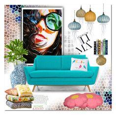 """""Sunnies"" Artwork ^THS"" by rosie305 ❤ liked on Polyvore featuring interior, interiors, interior design, home, home decor, interior decorating, Joybird Furniture, Jennifer Umphress Studios, Motif Designs and Pier 1 Imports"