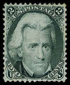USA 1861-1866 issue, Scott 73. 2c Black, OG, H, light gray shade, quite well centered, fresh and Very Fine+, a great looking stamp Catalog value: 375.00  Lot condition *  Dealer Aldrich Auction  Auction Starting Price: 170.00 US$