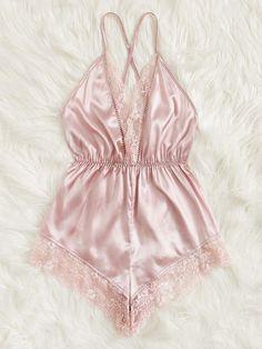 Lingerie Outfits, Lace Lingerie Set, Pretty Lingerie, Women Lingerie, Cute Sleepwear, Satin Sleepwear, Satin Pajamas, Satin Cami Dress, Cute Pajama Sets