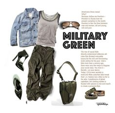 """""""Attention! Go Army Green"""" by eyesondesign ❤ liked on Polyvore featuring Lanvin and Gogreen"""