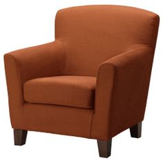 EKENÄS Sessel - Tullinge rostbraun - IKEA    For the living room.
