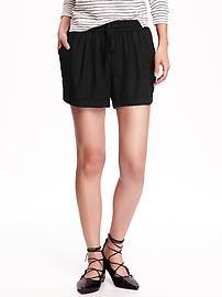 Linen Tie-Waist Shorts for Women (3 1/2