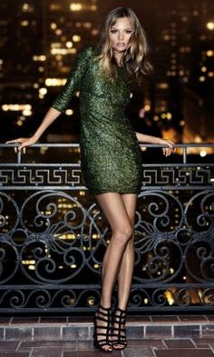 SEQUIN CUT-OUT BACK MINI DRESS from EXPRESS