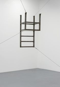Bruce Nauman  Untitled (Suspended Chair, Vertical III) 1987 Welded steel and steel cables