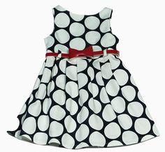 φόρεμα μπλε με μεγάλα λευκά πουά – annalolla.gr