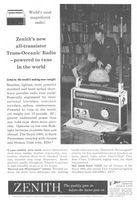 Zenith Trans-Oceanic Royal 1000 Radio 1959 Ad Picture