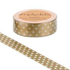 Masking Tape - Masking Tape Washi-Tape Pünktchen Gold - ein Designerstück von simplydeko bei DaWanda