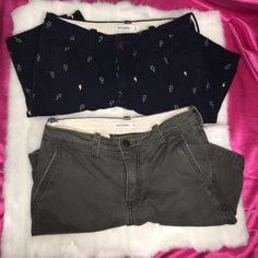 Abercrombie Kids Boy Shorts Size 14 Price includes both shorts. preloved and still great condition. I provided pics with flash for better view.  Size 14. Abercrombie Kids Shorts