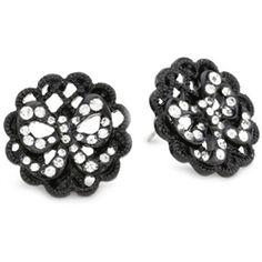Betsey Johnson Filigree Medallion Stud Earrings