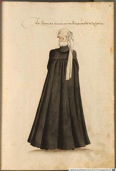 Mourning clothing of the Burger class woman in Augsburg