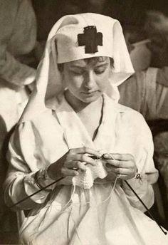 A WWI American Red Cross Nurse. 1917
