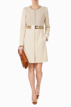 Cappotto cintura in catena e maxi logo - CAPISPALLA su Digital Store ELISABETTA FRANCHI - la Boutique online ufficiale