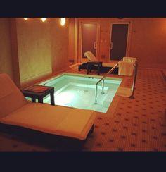 Cool bathroom! That could be a bath tub or a hot tub!