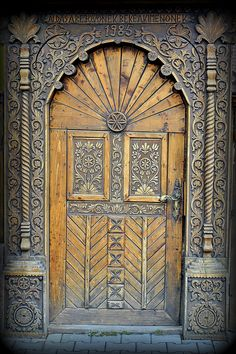 Front door in Corund Harghita