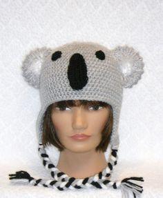 Koala Bear Earflap Hat MADE TO ORDER by BabySewCute on Etsy, $25.00