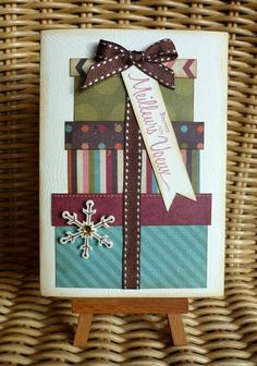 Single-Card Source by Diy Holiday Cards, Christmas Card Crafts, Homemade Christmas Cards, Christmas Cards To Make, Diy Cards, Homemade Cards, Theme Noel, Handmade Birthday Cards, Diy Birthday