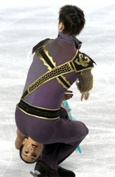 ice skater head out of butt