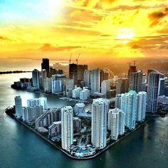Miami AERIAL by south beach helicopters #miami #florida #miamibeach #sobe #southbeach #brickell #Miami