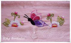 Toalha rosa, borboleta (Sonia -Bahia)