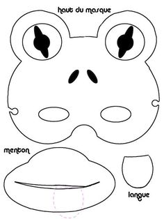 black white frog mask