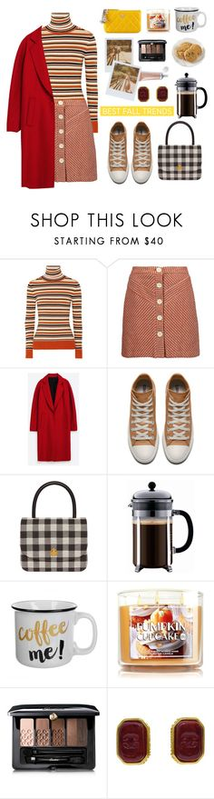 """this fall baby"" by jasmimbonlevour ❤ liked on Polyvore featuring JoosTricot, Maje, Mansur Gavriel, Chanel, Guerlain and Band of Outsiders"
