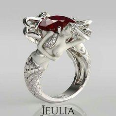 Ruby Mermaid Ring