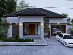 3d Home Design, Home Building Design, Home Design Plans, Modern House Design, Building A House, My House Plans, Modern House Plans, Modern Minimalist House, Bungalow House Design