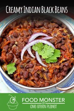This recipe for black beans is inspired by the classic Indian black lentil recipe called Dal Makhani. Healthy Crockpot Recipes, Healthy Eating Recipes, Whole Food Recipes, Vegetarian Recipes, Protein Recipes, Avacado Dinner, Coliflower Recipes, Vegan Indian Recipes, Plant Based Eating