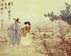 Korean Traditional art by Shin Yun-bok Korean Painting, Chinese Painting, Chinese Art, Korean Traditional, Traditional Art, Traditional Clothes, Korean Art, Asian Art, Korean Picture