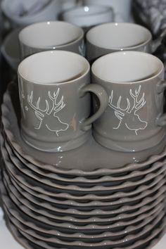 Raindeer CUPS   Grey Mugs   GIFTS Christmas   re-pinned by http://www.cupkes.com/