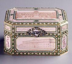 Feliks and Nikolai Iusupov gave this Fabergé music box to their parents, Prince Feliks and Princess Zinaida, as a twenty-fifth wedding anniversary present in 1907. #antique #vintage #box
