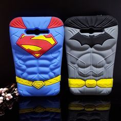 3D Cartoon Chest Muscle Superman Batman Cover Soft Silicone Cell Phone Case for For Samsung J7 J700 J700F J7000