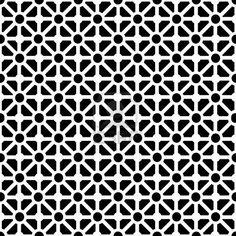 Patrón geométrico sin fisuras en blanco y negro Foto de archivo