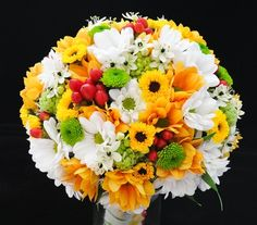 Bouquet yellow and white