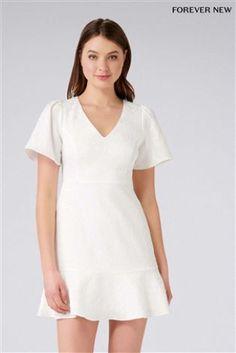 L2018 Rozkloszowana żakardowa sukienka mini Forever New Petite