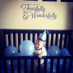 Birthday boy, first birthday.