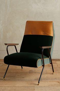 Slub Velvet Quentin Chair - anthropologie.com